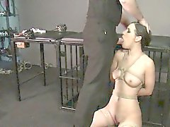 bdsm brunette facial fetish