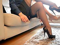 dilettante lesbiche calze
