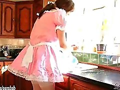 lucimay crossdresser maid blowjob big-cock