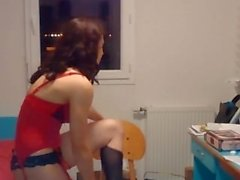 teasing petite streaptease exgirlfriend-amateur