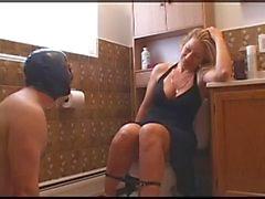 bdsm water slave pee toilet