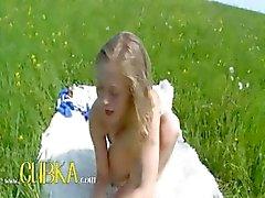 blond dildo meisje