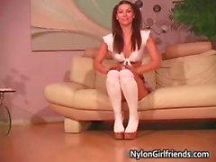 fetish panties pantyhose schoolgirl stockings