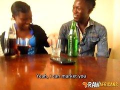 Nigerian girlfriend jerking off big dick