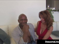 cumshot mature interracial