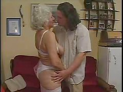 blowjob cum swallowing cumshot granny lingerie