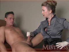 handjob-latex-gloves kink mistress handjob milf