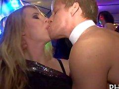Studs get blown after a party striptease