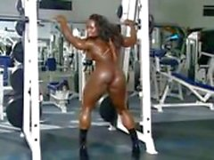 solo girl ebony gym muscular