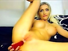 anal ass blonde masturbation