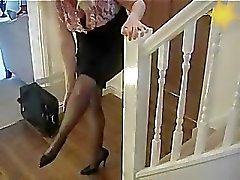 stockings secretary nylons