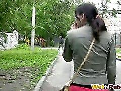 amateur brünett fetisch im freien