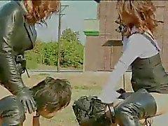 bdsm spanking outdoor femdom foot fetish