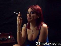asian fetish mature smoking