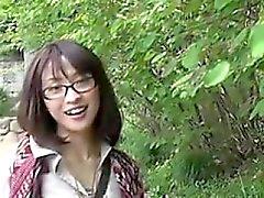 asiatique de plein air étudiant