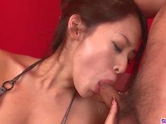 An Yabuki sucks dick with passion - More at slurpjp