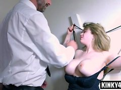 big boobs blondine blowjob briten unterwäsche