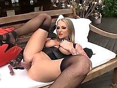 big boobs big cocks blonde fingering stockings