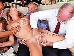 blonde fingering group sex