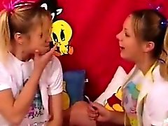 blonde fetish lesbian teen