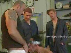 gay hunk stud spanking