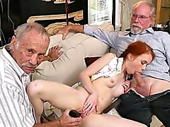 babe blowjob old young redhead
