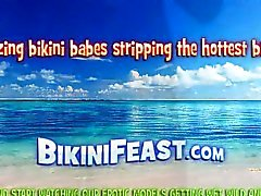 bebé playa grandes tetas rubia