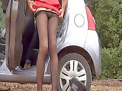 shemale outdoor shemales stockings