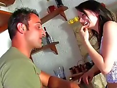 french slender stroking hair-pulling