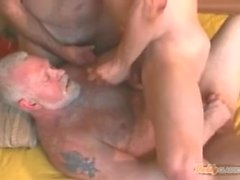 retro vintage mature kissing daddy anal anal sex doggy hardcore threesome 3some group sex cumshot daddy group