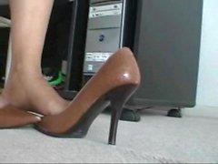 nero nodo collant calze calze di nylon
