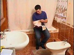mature nylon russian shower