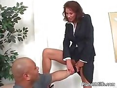 Big black guy fucks some horny mommy part5
