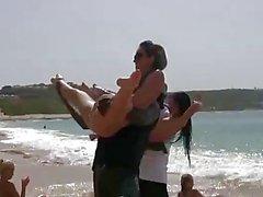 ranta ryhmäseksiä lesbo