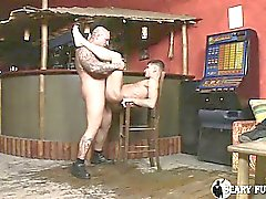 Caucasian Man Getting His Fat Cock Into A White Man's Ass!