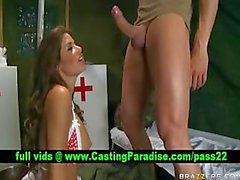 Madelyn Marie brunette nurse blowjobs and licked