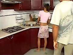 ass-fuck mom mother anal-wife kitchen-sex