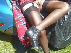 stockings nylon outdoor