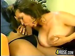 big boobs blowjob brunette hardcore nylon