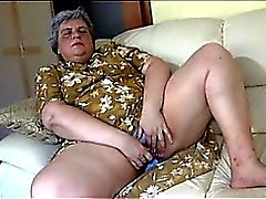 Chubby Granny gets her hairy pussy washed by caretaker