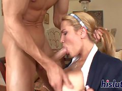 big tits blowjob blonde oral big boobs