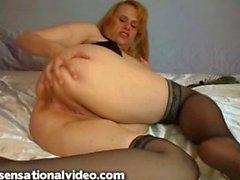 bbw anal dildo blonde