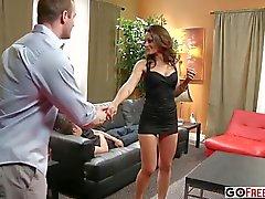 big tits brunette blowjob