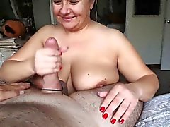bbw big boobs blonde blowjob