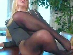 blondes pornstars lingerie play