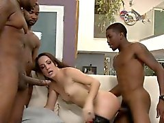 Skank Marley Blaze all holes wrecked with big black cocks