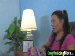 adolescente negro duro interracial teenie