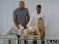 blondes blowjobs interracial lingerie