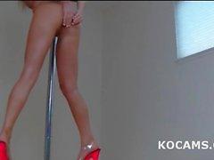 blonde erotic striptease teen
