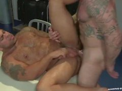 hunks men bull hairy tattooed gay sex muscle ass fuck otter hard anal sex analized pounded beard hard